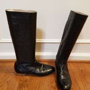 Black leather Frye boots